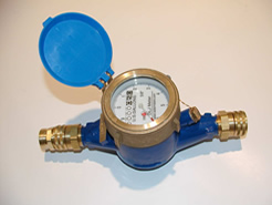 DLJGHT Garden Hose Thread Water Meter for Sill Cock Lawn Faucet